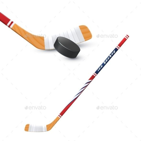 Hockey Stick And Puck Hockey Stick Hockey Puck
