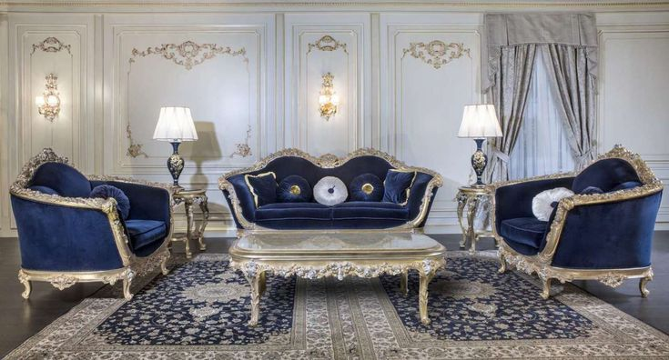 Luxury Sofa Set French Living Rooms, Beautiful Living Room Furniture Sets