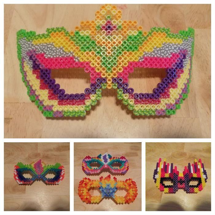 Masks perler beads by Britanny C.