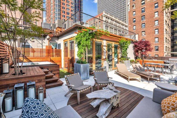 Красивые террасы на крышах домов фото