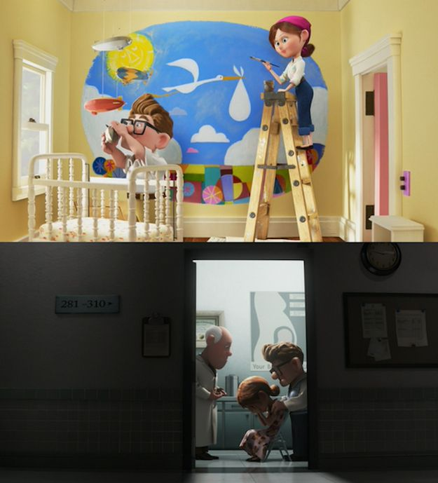 Ellie from Up was barren. Then she died.   25 Childhood-Ruining Moments You Forgot About
