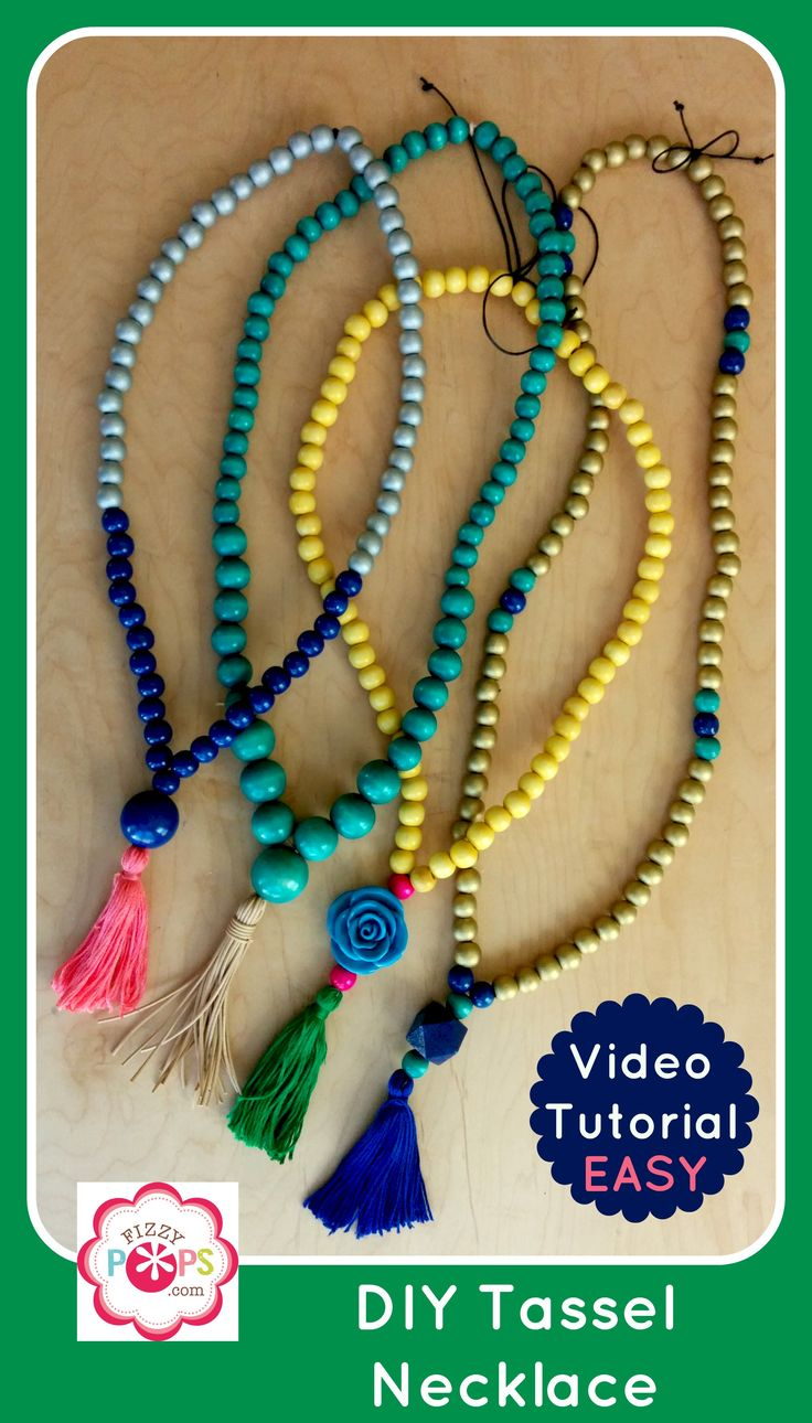 DIY Tassel Necklace Video Tutorial - Super easy and inexpensive! Check out www.fizzypops.com for more tutorials and DIY jewelry supplies.
