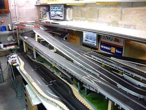 circuit slot racing scalextric digital 45m 6 voitures bourgogne p1 scalextric slot cars