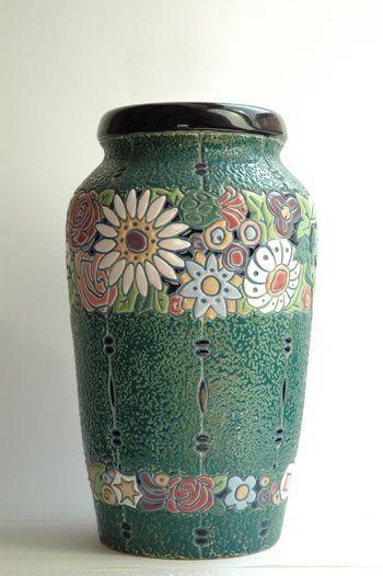 Amphora Pottery Vase, Czech Republic, ca. 1930s.