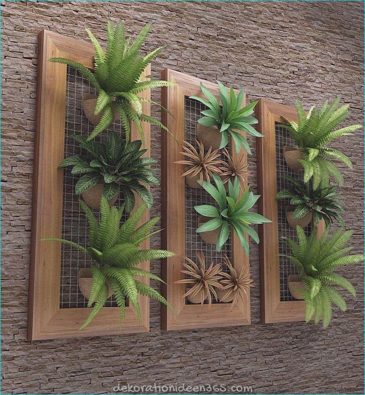 Wie man einen vertikalen Garten und seine Gestaltung im Innen- und Außenbereich gestaltet