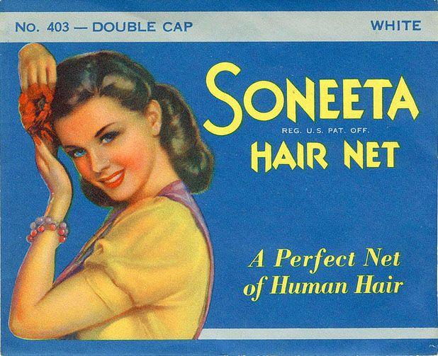 Vintage Hair Net Packaging