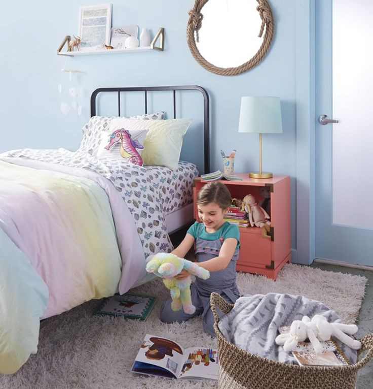 View the Under the Ocean girls bedroom theme at The Land of Nod to find design ideas and inspiration for a room she'll love. Browse girls bedroom ideas.