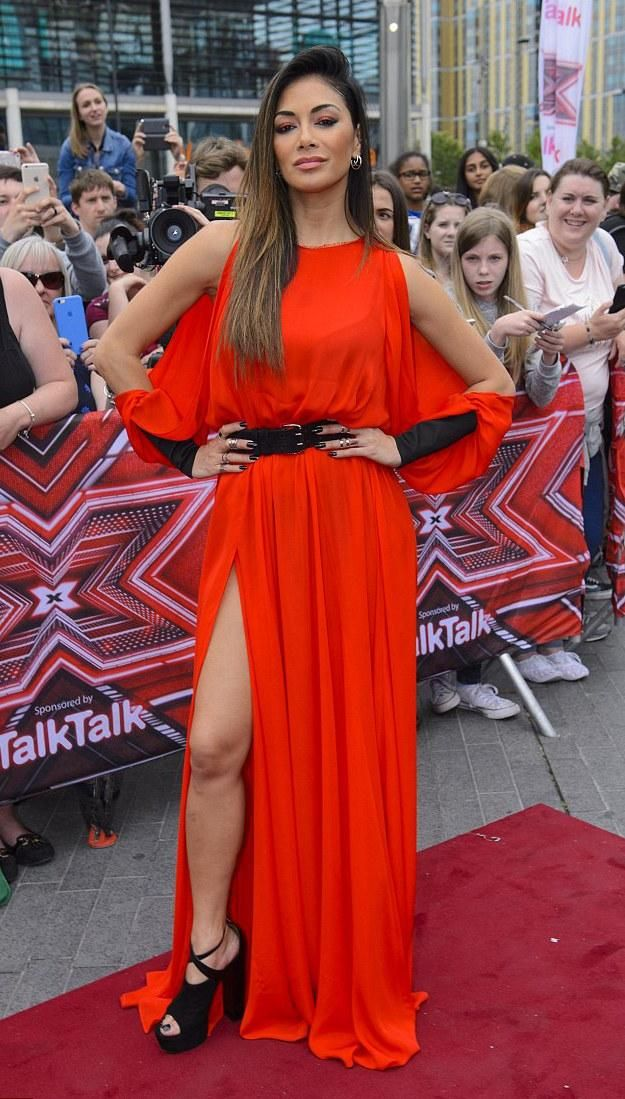 Nicole Scherzinger the x Factor Auditions at Wembley Arena in ravishing red…