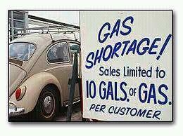 The Gas Shortage in the mid-70s. I've heard people with certain plate numbers could only fill up on alternating days. You were SOL if you tried to fill up on a Sunday.