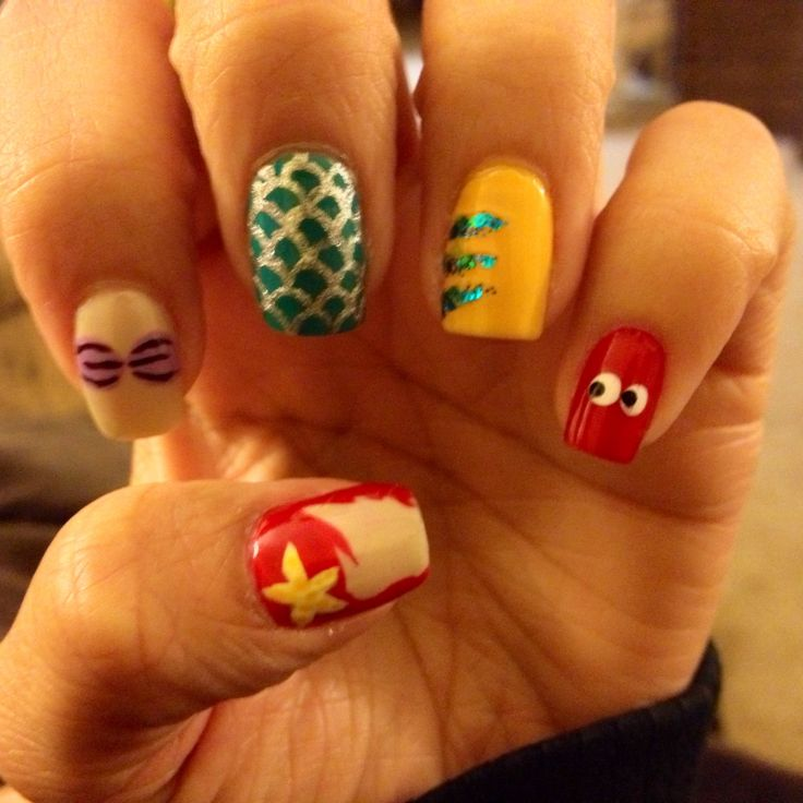 Little mermaid nails by Adrianna Hargrove