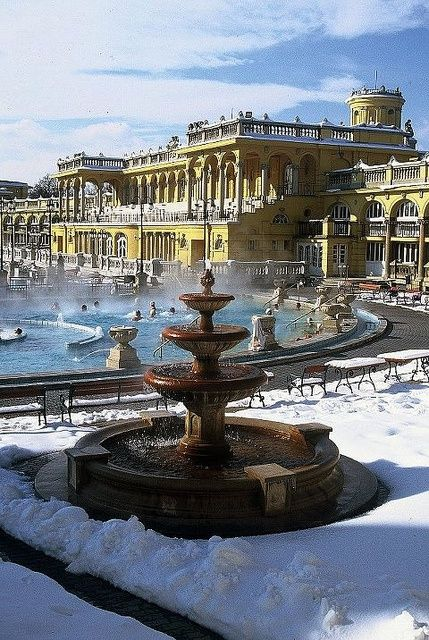 At the northern end of City Park, the Széchenyi Baths is unusual for three reasons: its immense size (with 15 indoor pools and three outdoor); its bright, clean atmosphere; and its water temperatures (up to 38°C), which really are what the wall plaques say they are, Budapest, Hungary