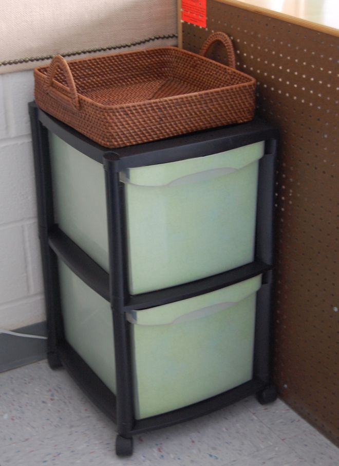 Sprucing up a plastic file cabinet