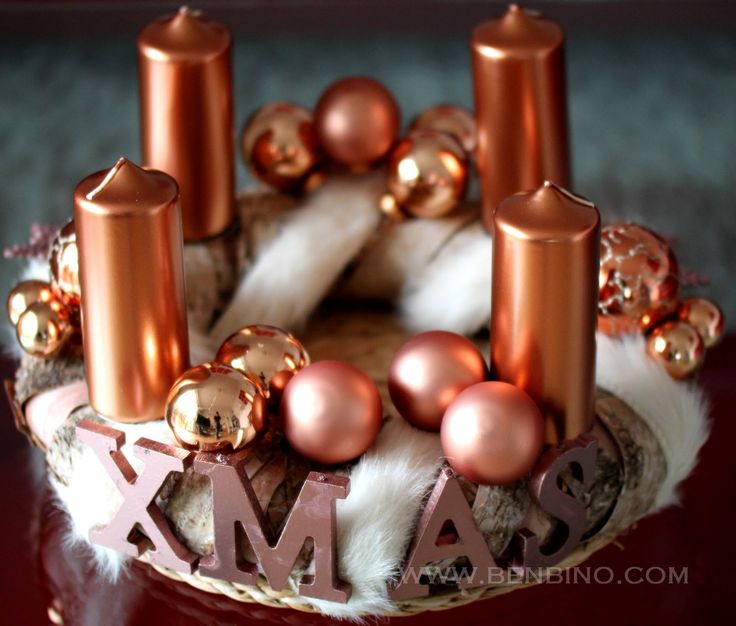 www.benbino.com | DIY | Adventskranz | tutorial | Anleitung | Kupfer | copper | Advent | Weihnachten | christmas