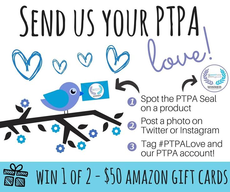 In celebration of a new month, we have decided to hold yet another awesome #giveaway! Ready? All you have to do is Spot the PTPA seal of approval and share a picture of it with us using the hashtag #PTPALove and tag us for your chance to #WIN 1 of 2- $50 Toys''R''Us gift cards!