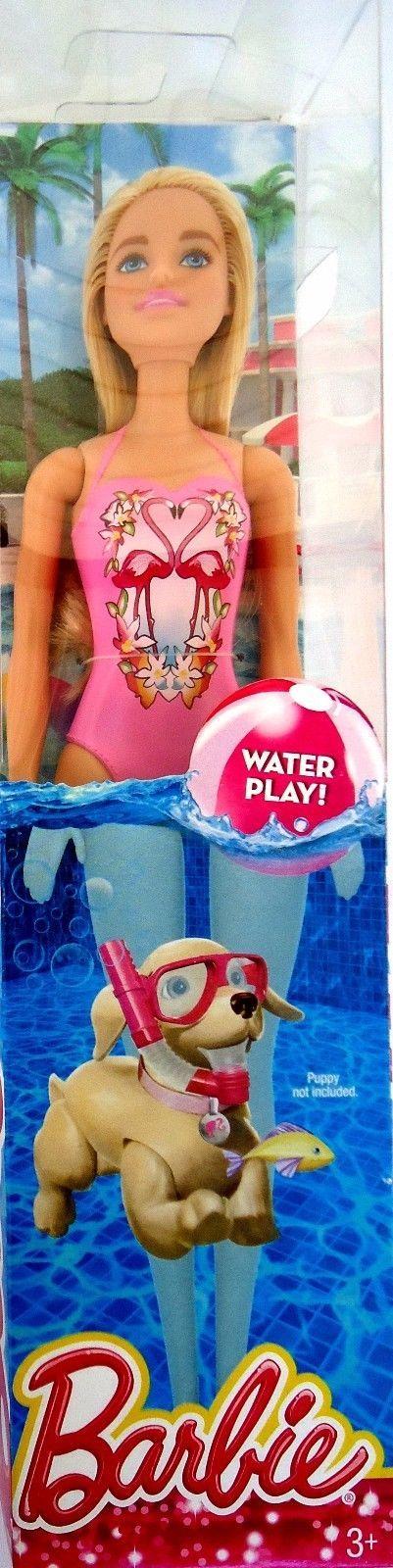 2016 Barbie Doll Water Play DGT78 Mattel (as seen on 2016 Glam Pool Box) Pink Flamingo Swimsuit NRFB   eBay