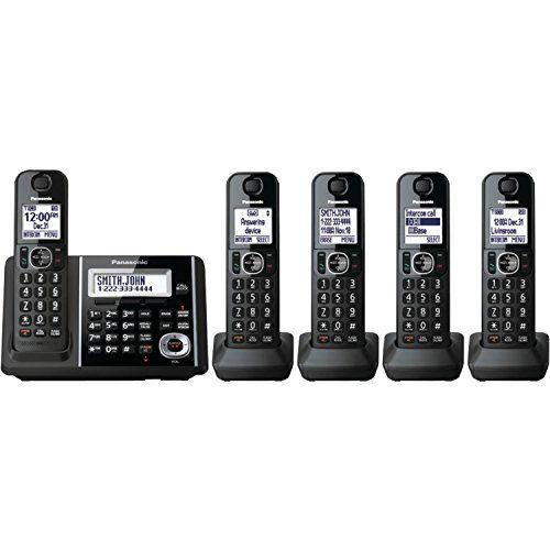 Panasonic Expandable Cordless Phone with Answering Machine  5 Handsets