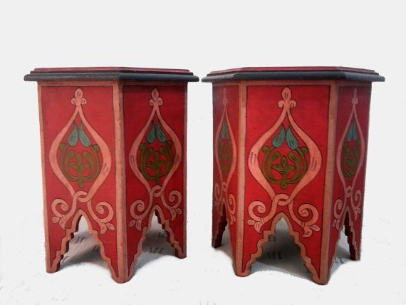 Two small Moroccan tables manufactured and by MoroccanTribal, $150.00
