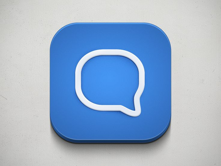 Chat App – iOS Icon | #ui