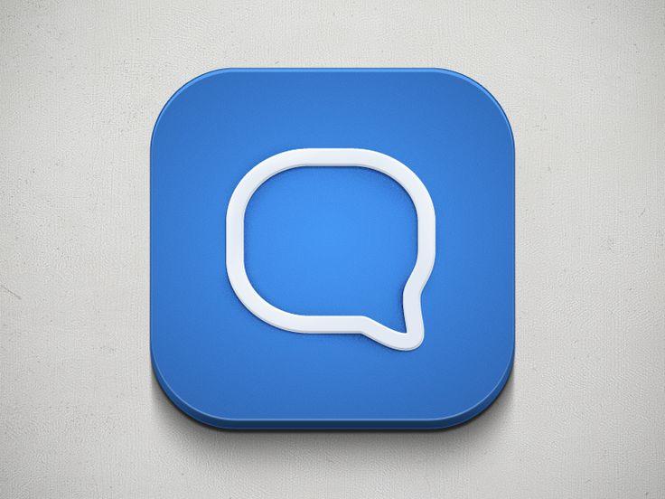 Chat App – iOS Icon | #ui