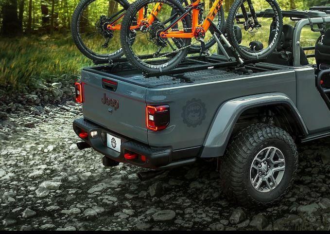 Mopar 82215631 Truck Bed Cross Bars For 2020 Jeep Gladiator Jt With Trail Rail In 2020 Jeep Gladiator Truck Bed Jeep