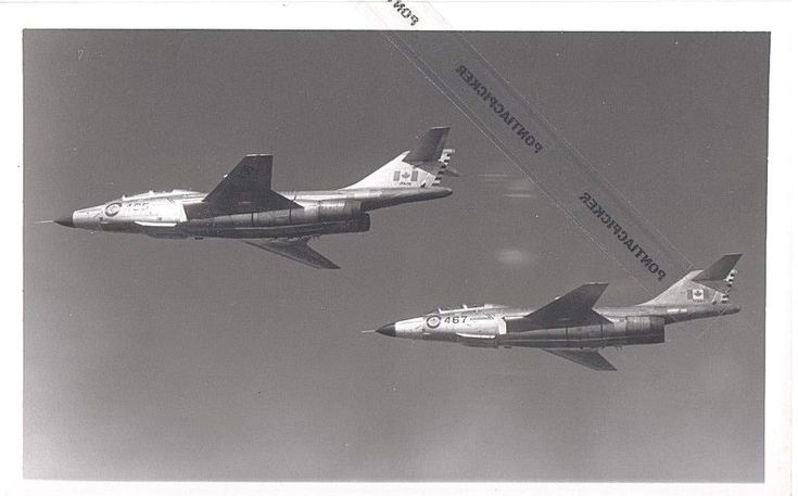 RCAF McDonnell CF-101 Voodoo Supersonic Fighter Jet Military Vtg 6x8 Photo