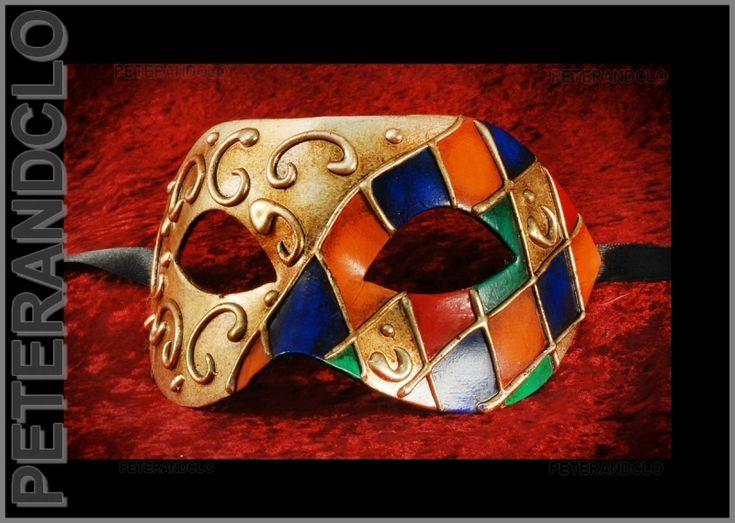 MASQUE DE VENISE AUTHENTIQUE LOUP CIVETTE COLOMBINE CARNAVAL - masques venitiens - masque venitien - masque venise boutique