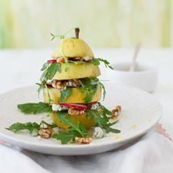 Pear Arugula Salad with Walnuts