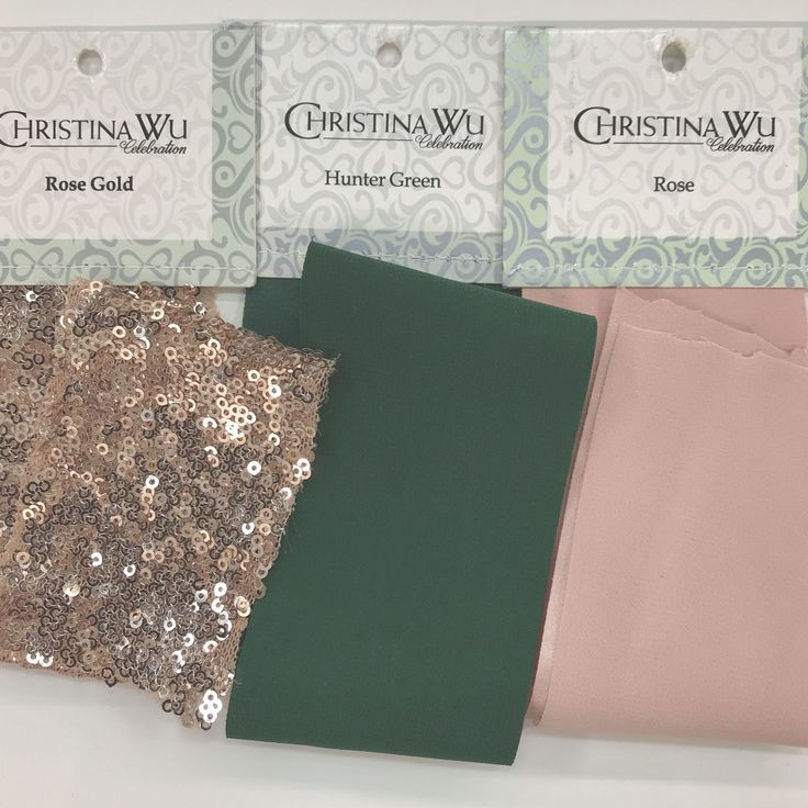 #WeddingColors: Hunter Green, Rose Pink, And Rose Gold