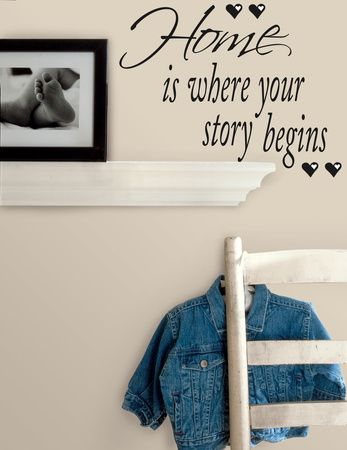 Home is Where Your Story Begins Peel & Stick Quotable Autocollant mural sur AllPosters.fr
