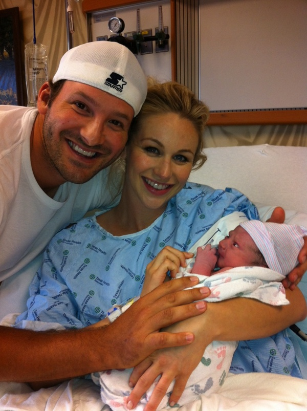 Tony Romo, wife and baby