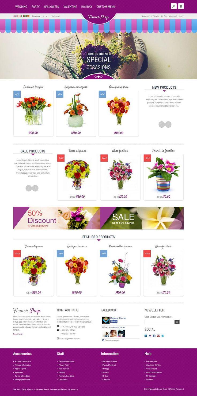 Flower - Responsive Flower Store #Magento eCommerce Theme