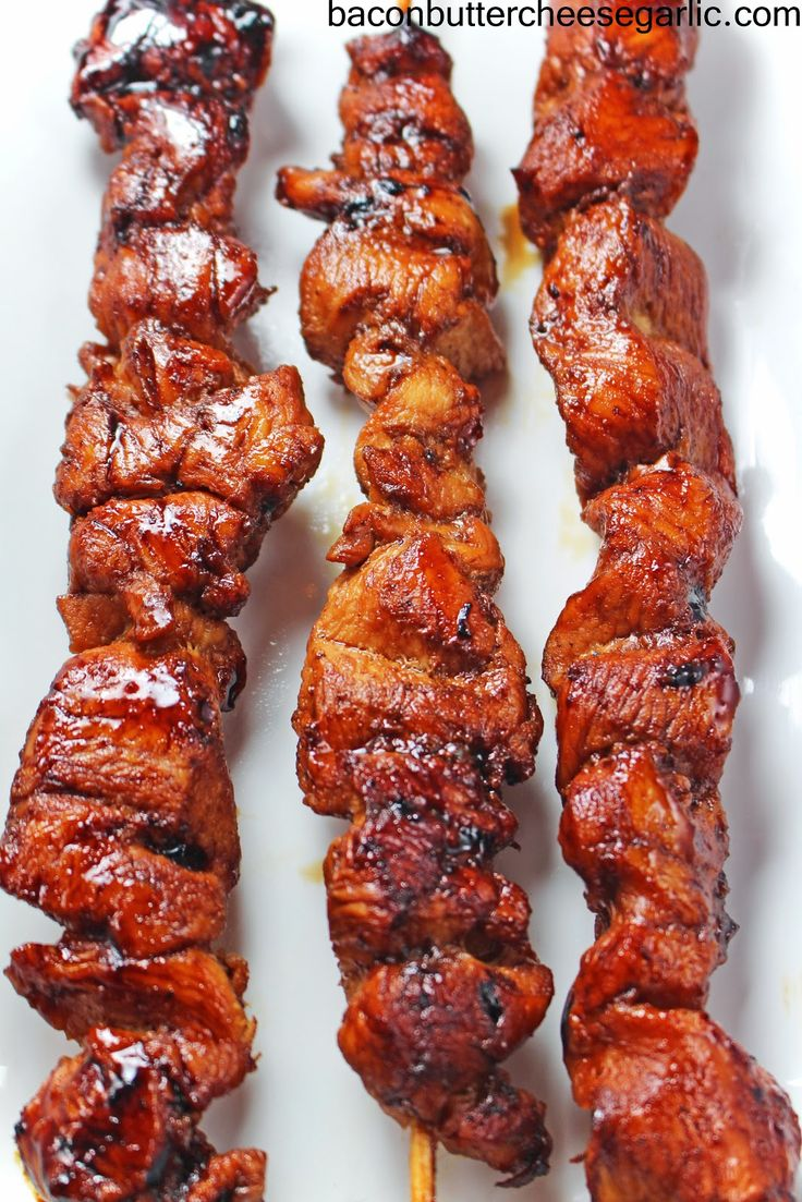 Korean inspired Chicken on a Stick...easy and yummy!