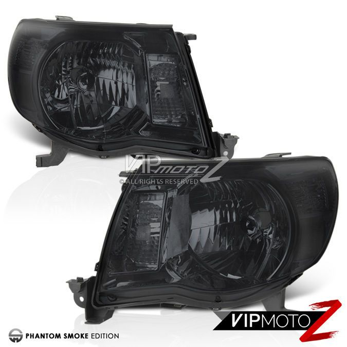 [SMOKE LENS] 2005 2006 2007 2008 2009 2010 2011 Toyota Tacoma Headlight Headlamp #VIPMOTOZ