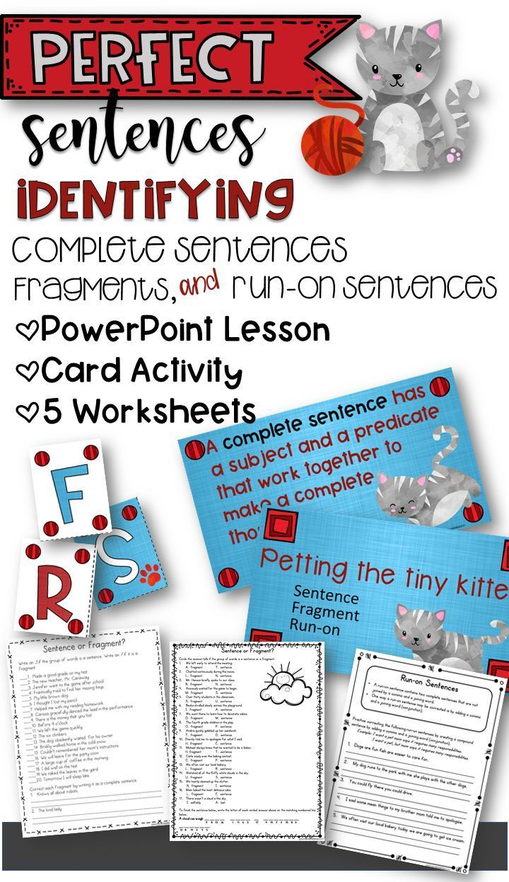 Identifying Complete Sentences Fragments And Run On Sentences In 2020 Run On Sentences Powerpoint Lesson Complete Sentences