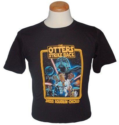 "Online Store | Adult ""The Otters Strike Back"" Tee Shedd Aquarium"