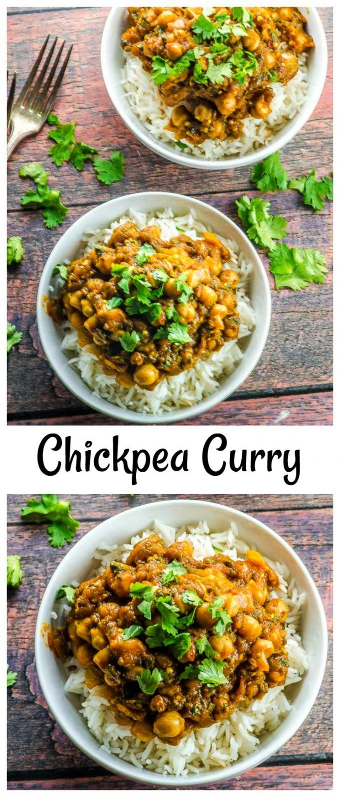 This super flavorful vegan chickpea curry with egg…