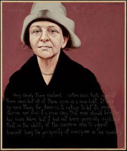 Frances Perkins Portrait by Robert Shetterly. One of my all time personal heroes.