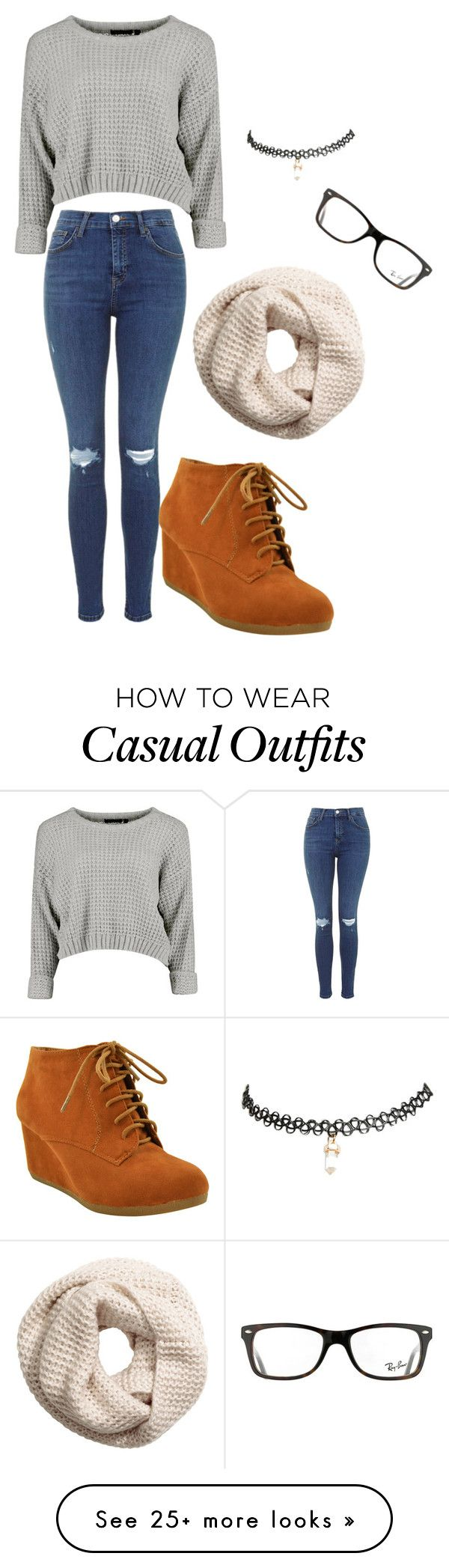 casual outfit by craycrayiyana on Polyvore featuring HM, Wet Seal and Ray-Ban