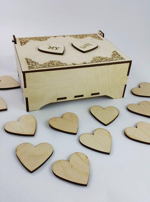 Ahşap Kalp ve Kalp Kutusu #kalpkutusu #ahşap #kalp #ahşapkutu #tasarım #wedding #mylove #ahşapmağazası #orijinalhediyeler