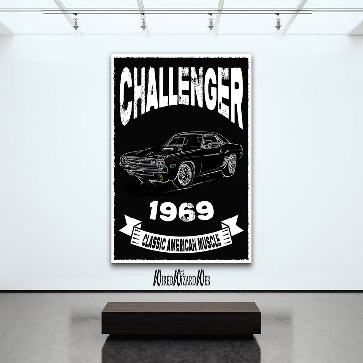 Challenger - 1969 // Classic American Muscle // Dodge Challenger Print…