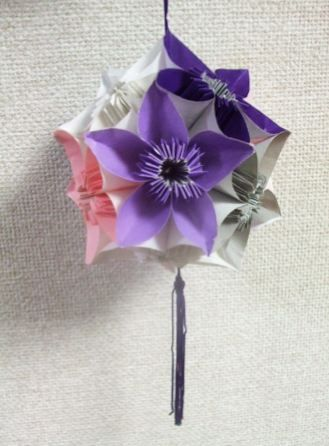 ハート 折り紙 折り紙で作るくす玉 : jp.pinterest.com
