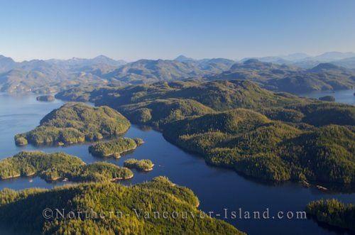 Aerial Broughton Archipelago | Northern Vancouver Island