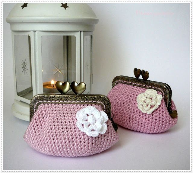 "Pitusas & Petetes: ""Crochet purse duo"" (dúo de monederos de crochet)"