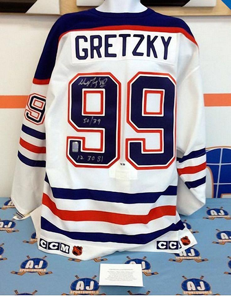 Wayne Gretzky Edmonton Oilers Signed & Inscribed Pro Jersey 50 in 39 LE/50: WGA