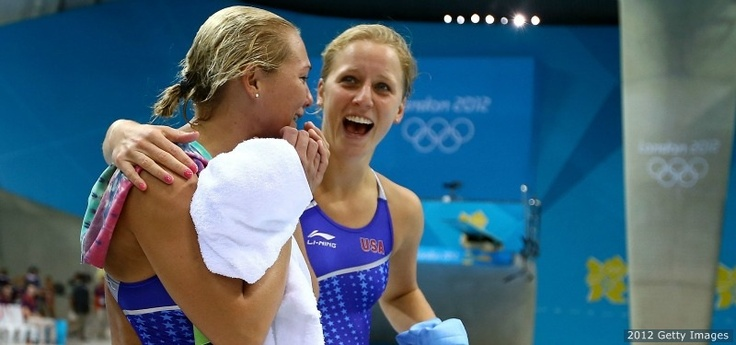 Kelci Bryant and Abby Johnston set the pace for the divers at the London 2012 Olympic Games by winning the silver medal in the synchronized 3-meter springboard. Yeah Team USA!