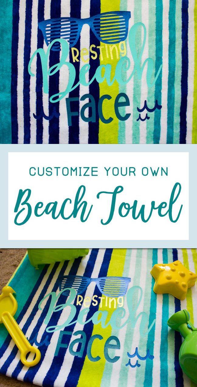 Customize Your Own Beach Towel Beach Towel Diy Custom Beach
