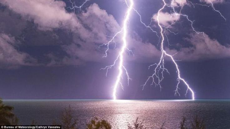 Lightning from Nightcliff, in the Northern Territory. 'There's really big lightning storms...