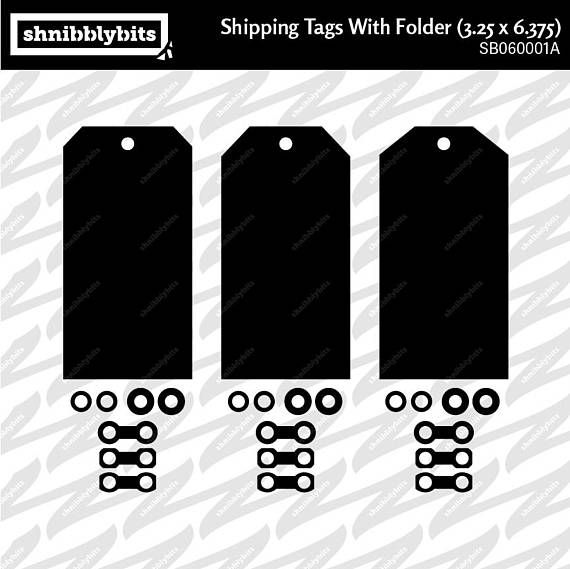 18 Shipping Tags with Folder 3.25x6.375