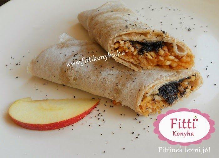 Fitti Konyha: Fitti mákos palacsinta almával