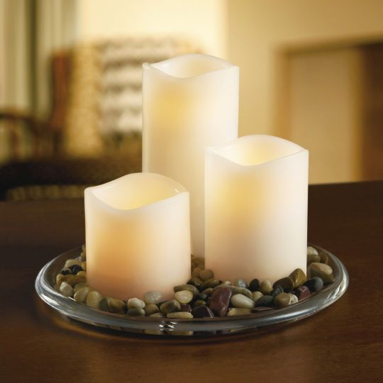 Ashland wax touch led pillar candle set with remote the